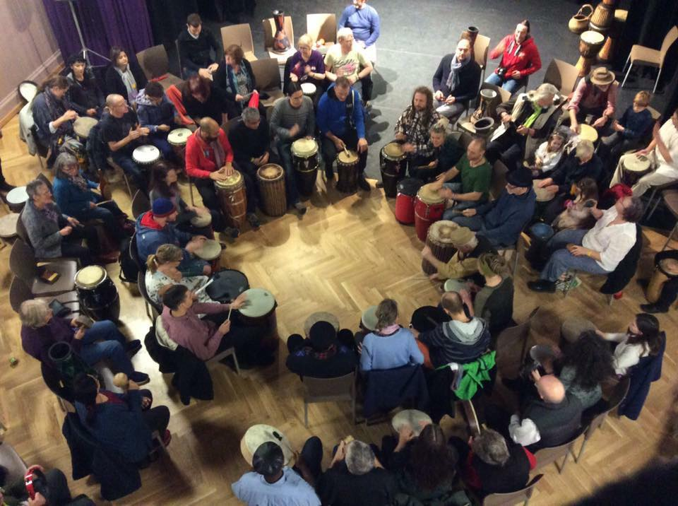 Community Drum Circle @ Biggar - Scotland - October 2016