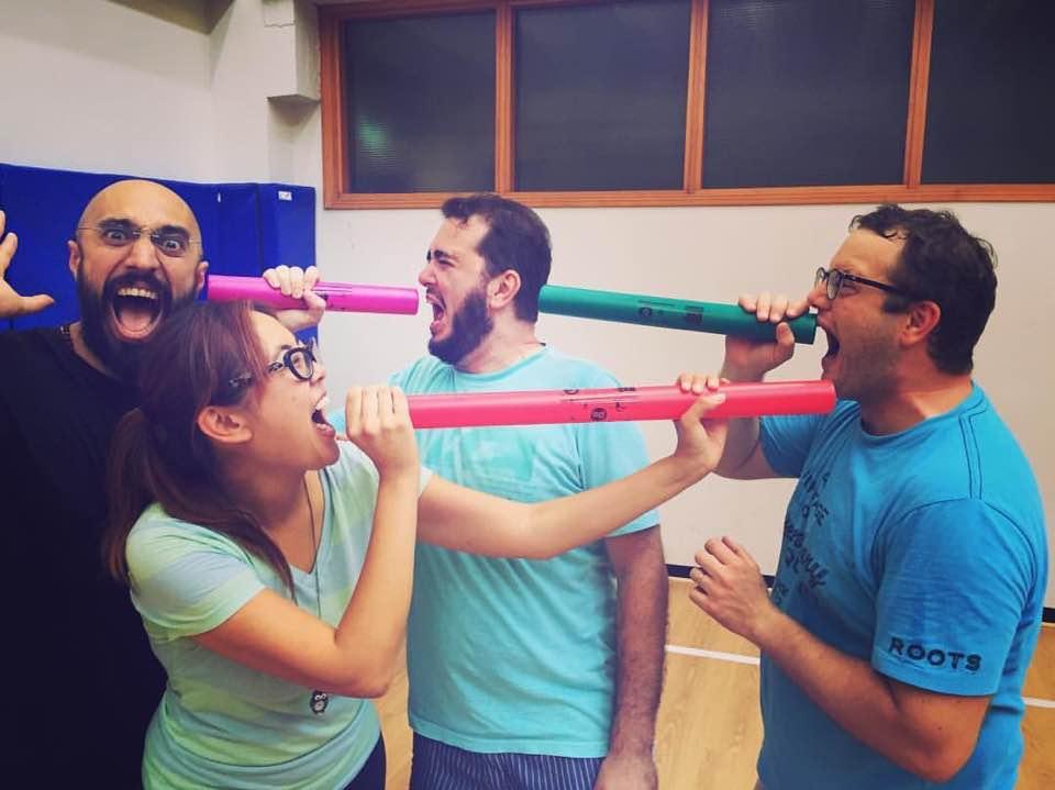 With Uirà Kuhlmann, Marco Pagliarulo (EducArte), Chiara Cortez (Circlesinging Roma)