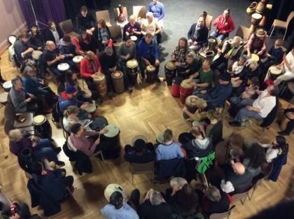 Community Drum Circle - Biggar - Scotland 2016